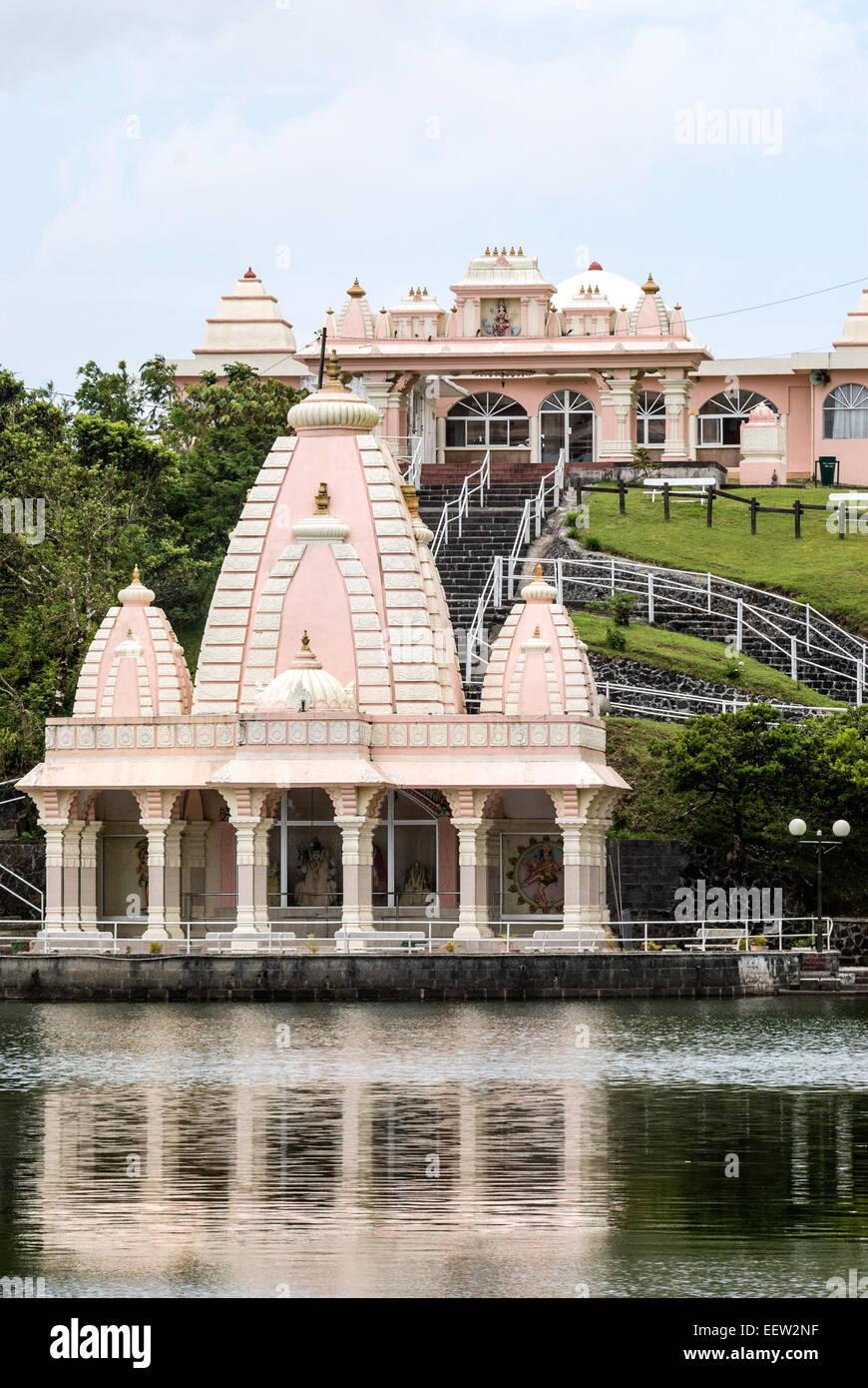 Ganga Talao templo hindú en el Grand Bassin, Lago, Isla Mauricio Imagen De Stock