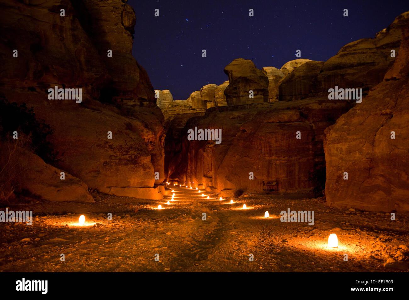 Petra en Jordania Imagen De Stock