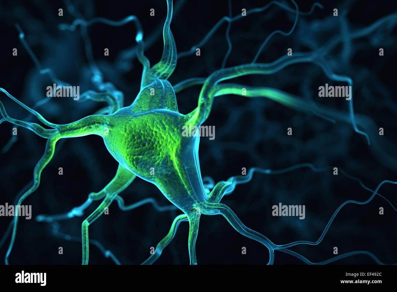 Resumen Antecedentes Las neuronas Imagen De Stock