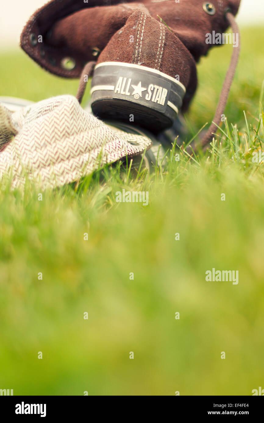 Zapatos Converse all star, vista trasera Imagen De Stock