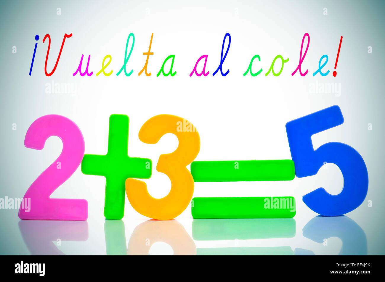 Frase Vuelta Al Cole Vuelta A La Escuela En Español Y La