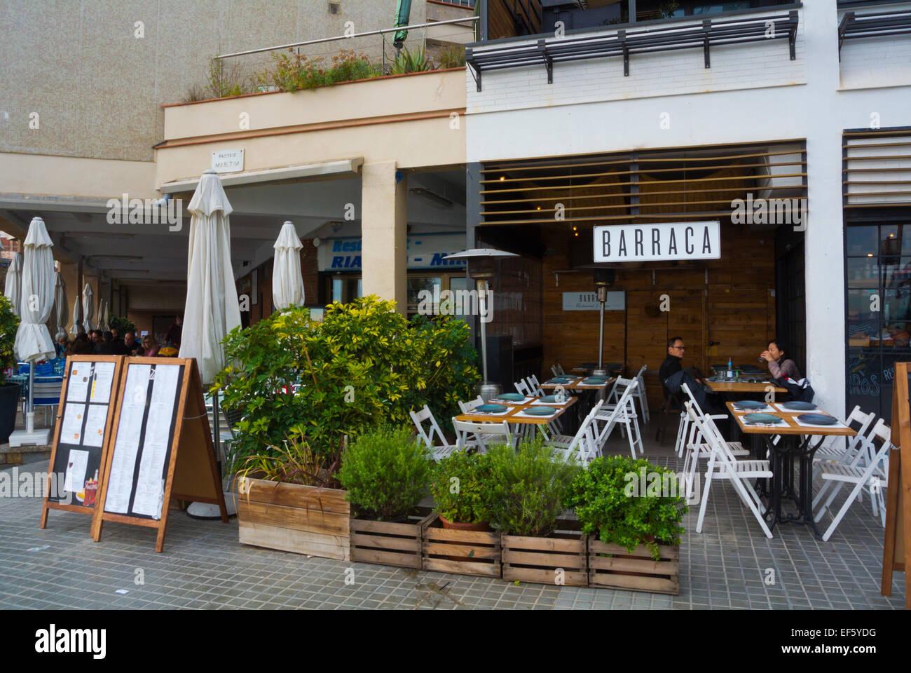 Restaurante En La Terraza Barceloneta Barcelona España
