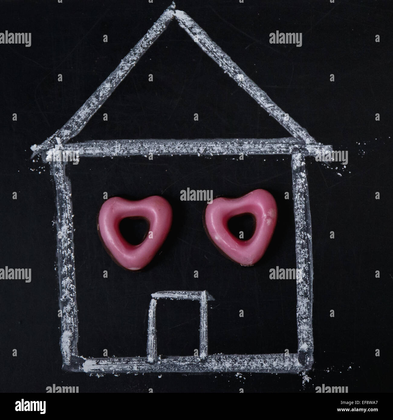 Casa Pintada con candy windows Imagen De Stock