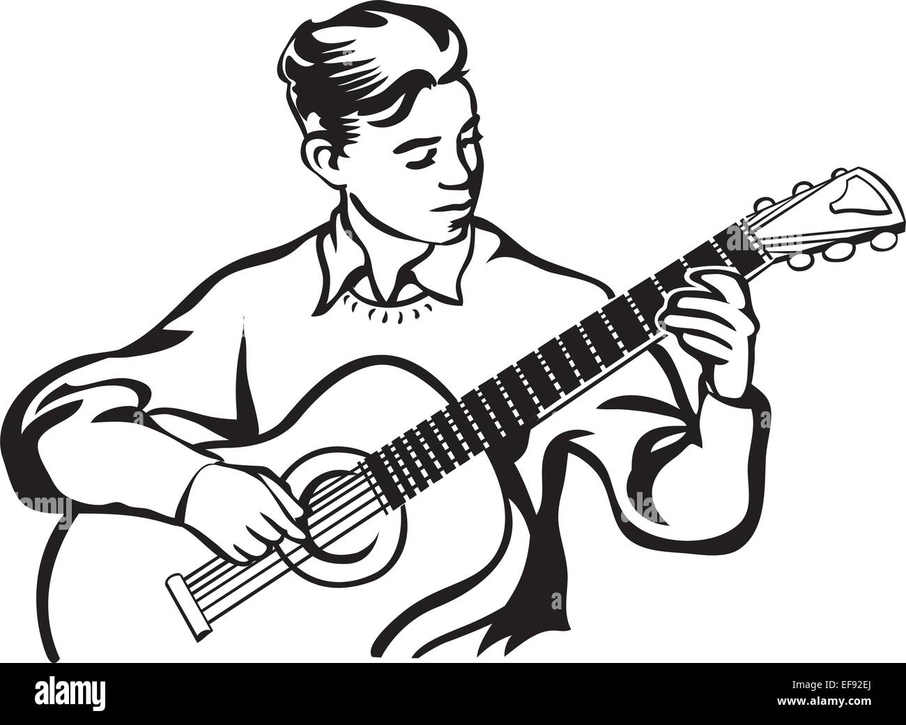 Acoustic Guitar Cartoon Clip Art Imágenes De Stock Acoustic Guitar