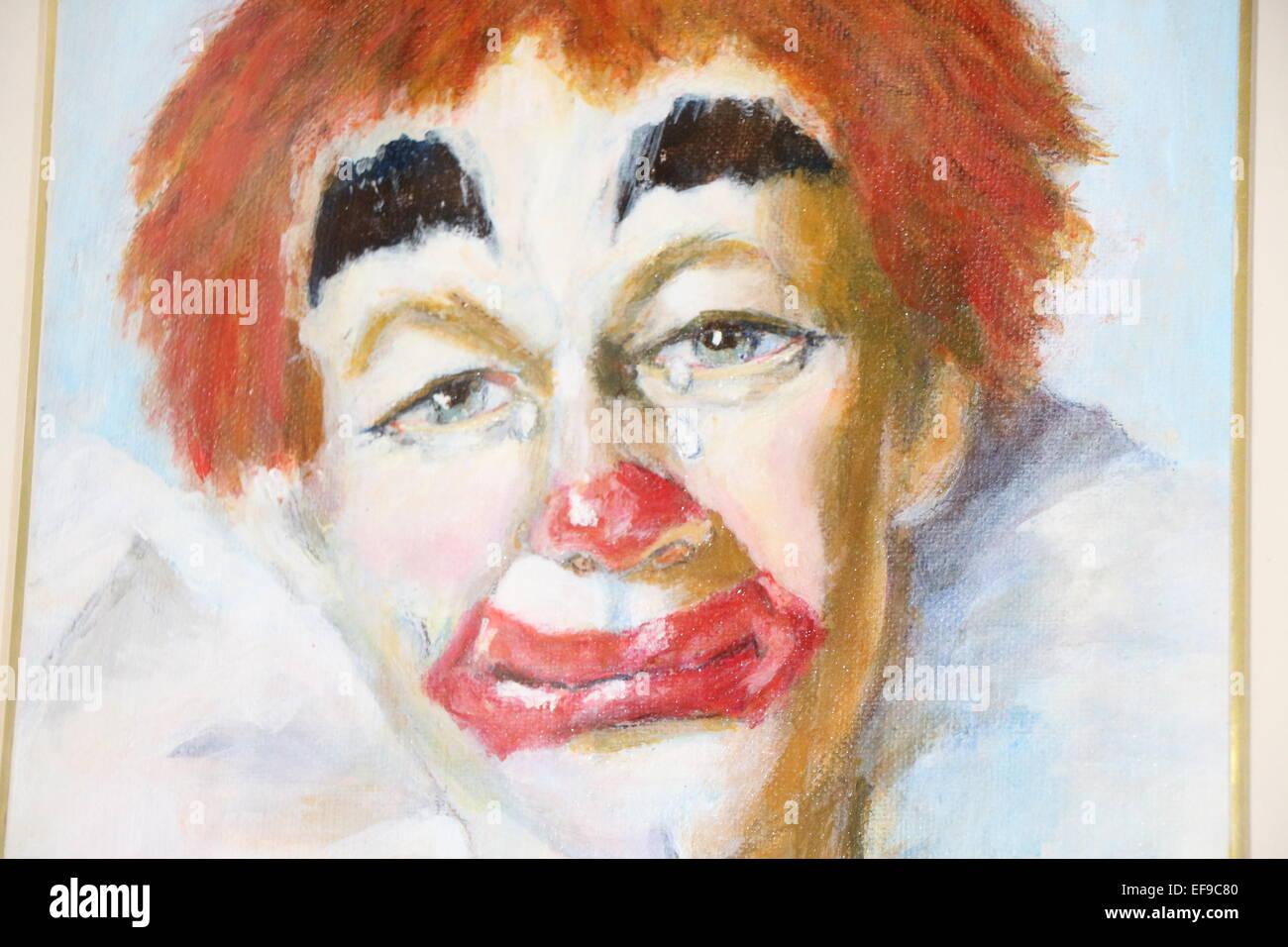 Cara De Payaso Scary Clown Llorando Payasociudad Payaso Justo