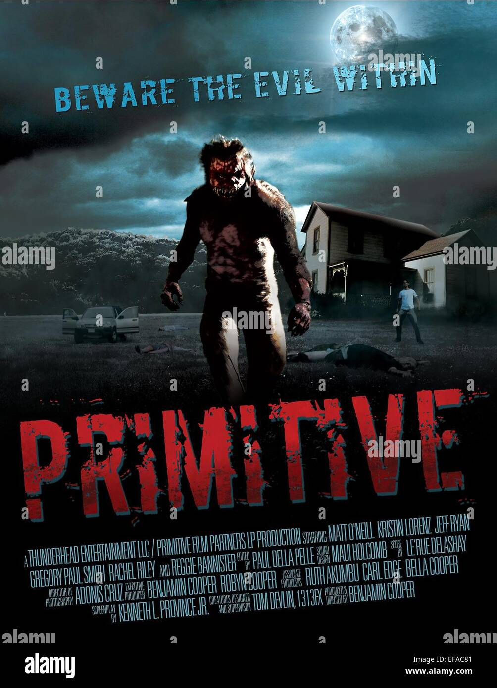 Póster de película primitiva (2011). Foto de stock
