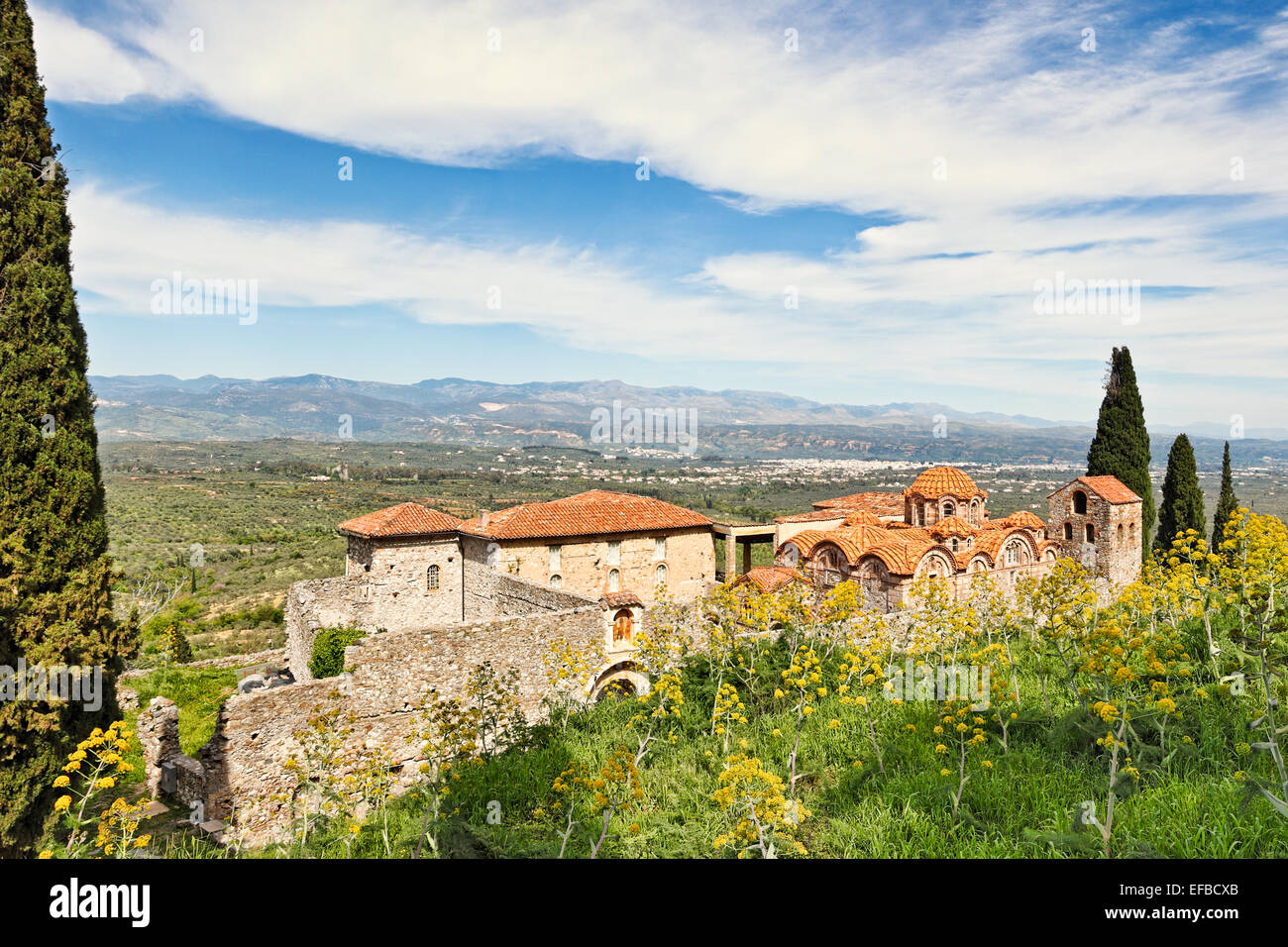 La iglesia de Saint Dimitrios (Metropolis) de Mystras, Grecia Imagen De Stock