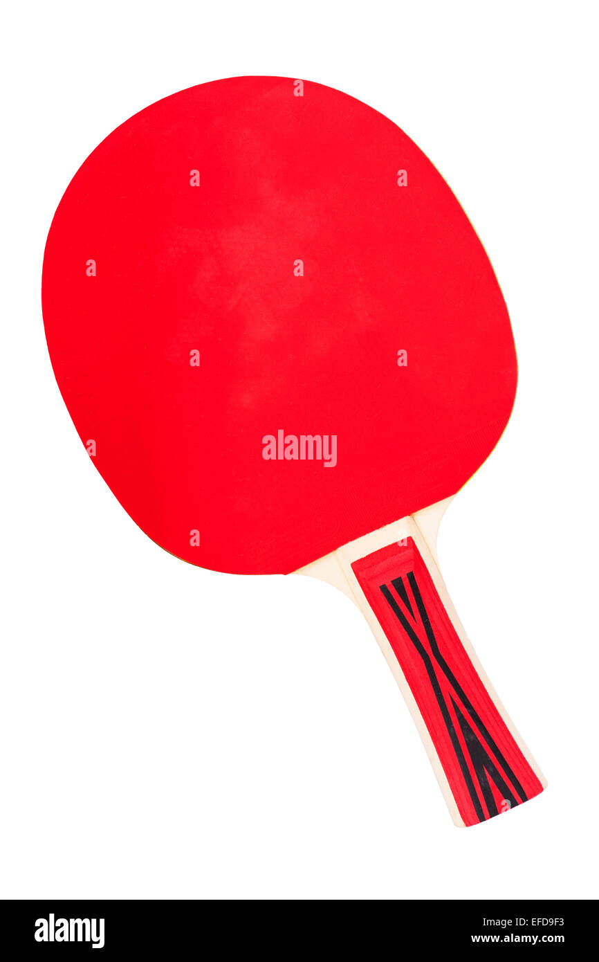 Una mesa de tenis de bat sobre un fondo blanco. Imagen De Stock