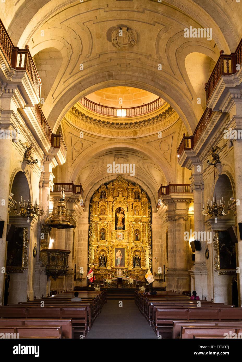 Iglesia de los compañeros, Arequipa, Perú Imagen De Stock