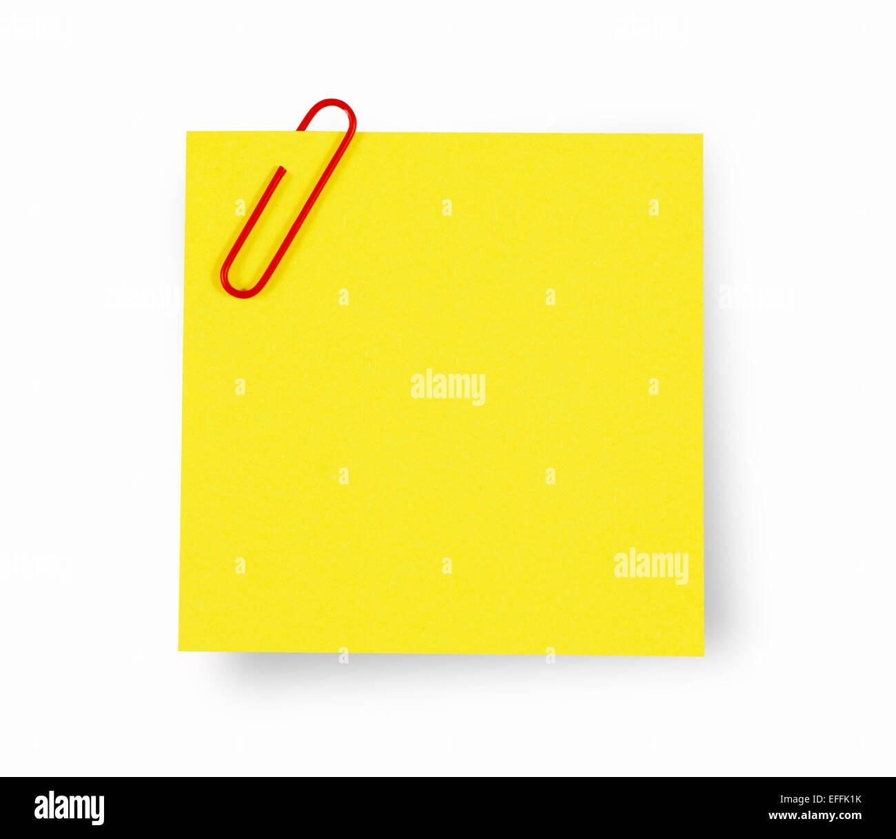 Note Pad Amarillo con espacio de copia Imagen De Stock