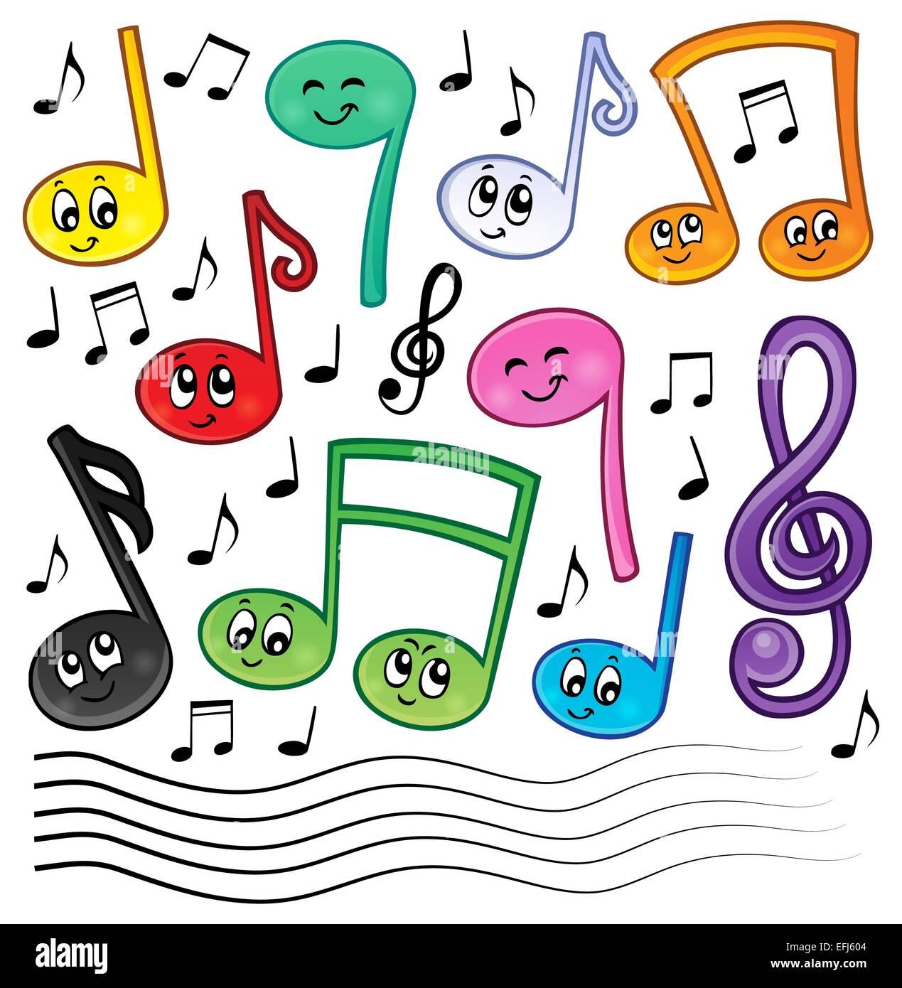 Tema Notas Musicales De Dibujos Animados Imagen 1 Imagen
