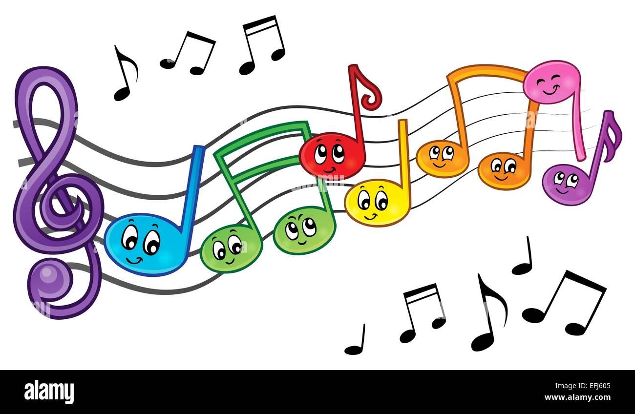 Notas Musicales De Dibujos Animados Imagen Tema 2 Imagen