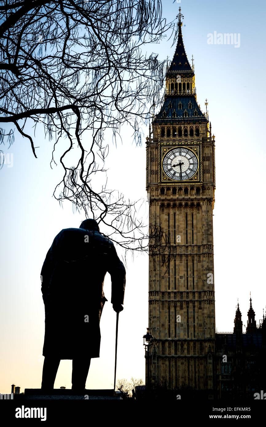 Big Ben es el sobrenombre de la gran campana del reloj, también conocida como la Torre del Reloj y la Torre Imagen De Stock