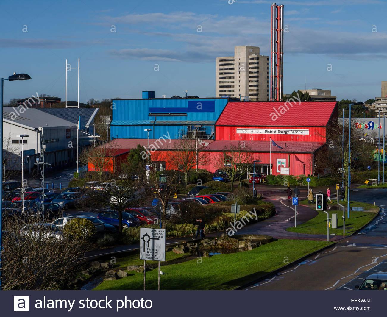 Southampton Hampshire Inglaterra Distrito plan de energía geotérmica calor resource Imagen De Stock