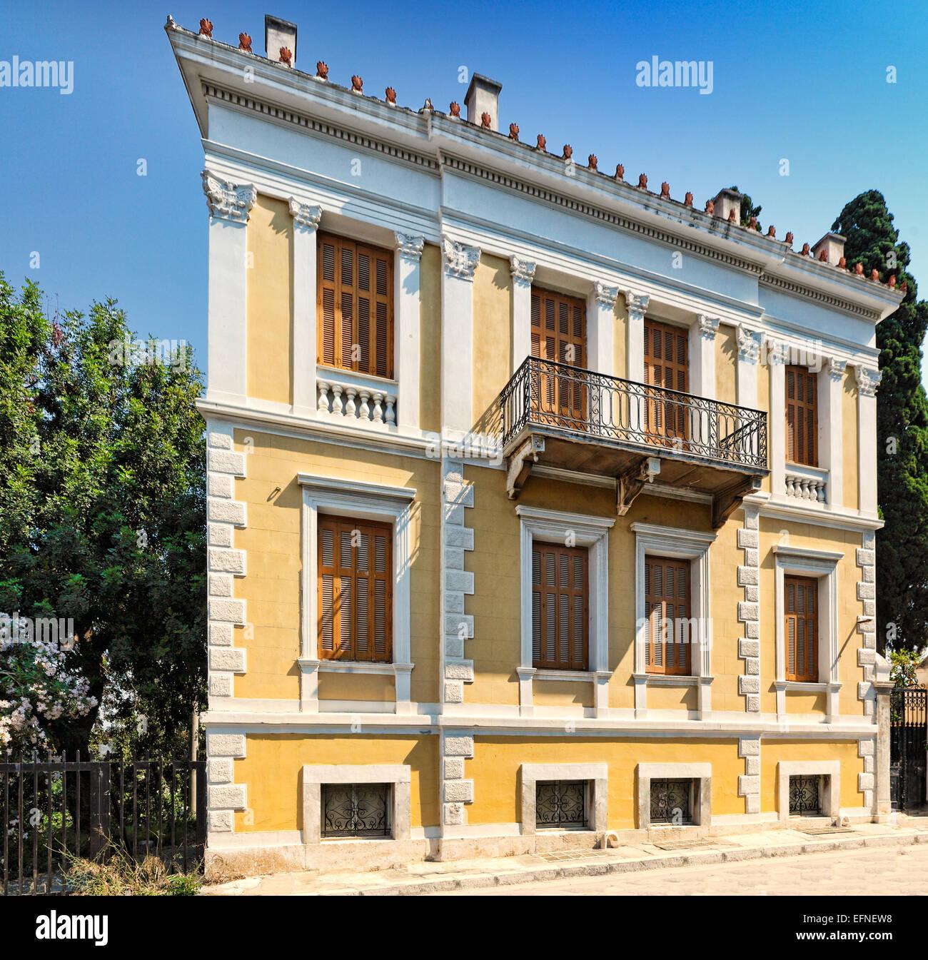 Los pintorescos edificios de Plaka, en Atenas, Grecia Imagen De Stock