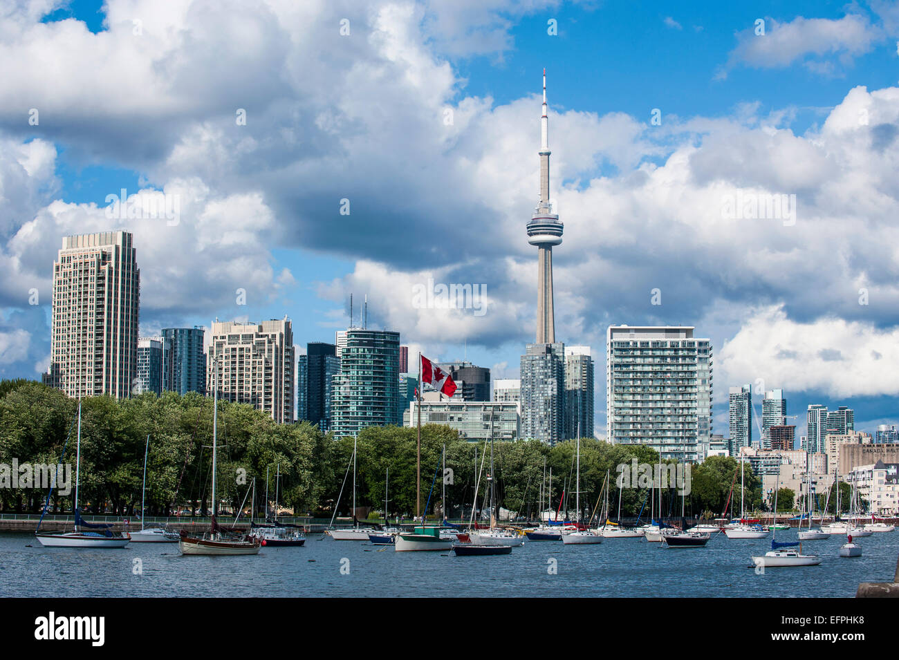 El horizonte de Toronto, Ontario, Canadá, América del Norte Imagen De Stock