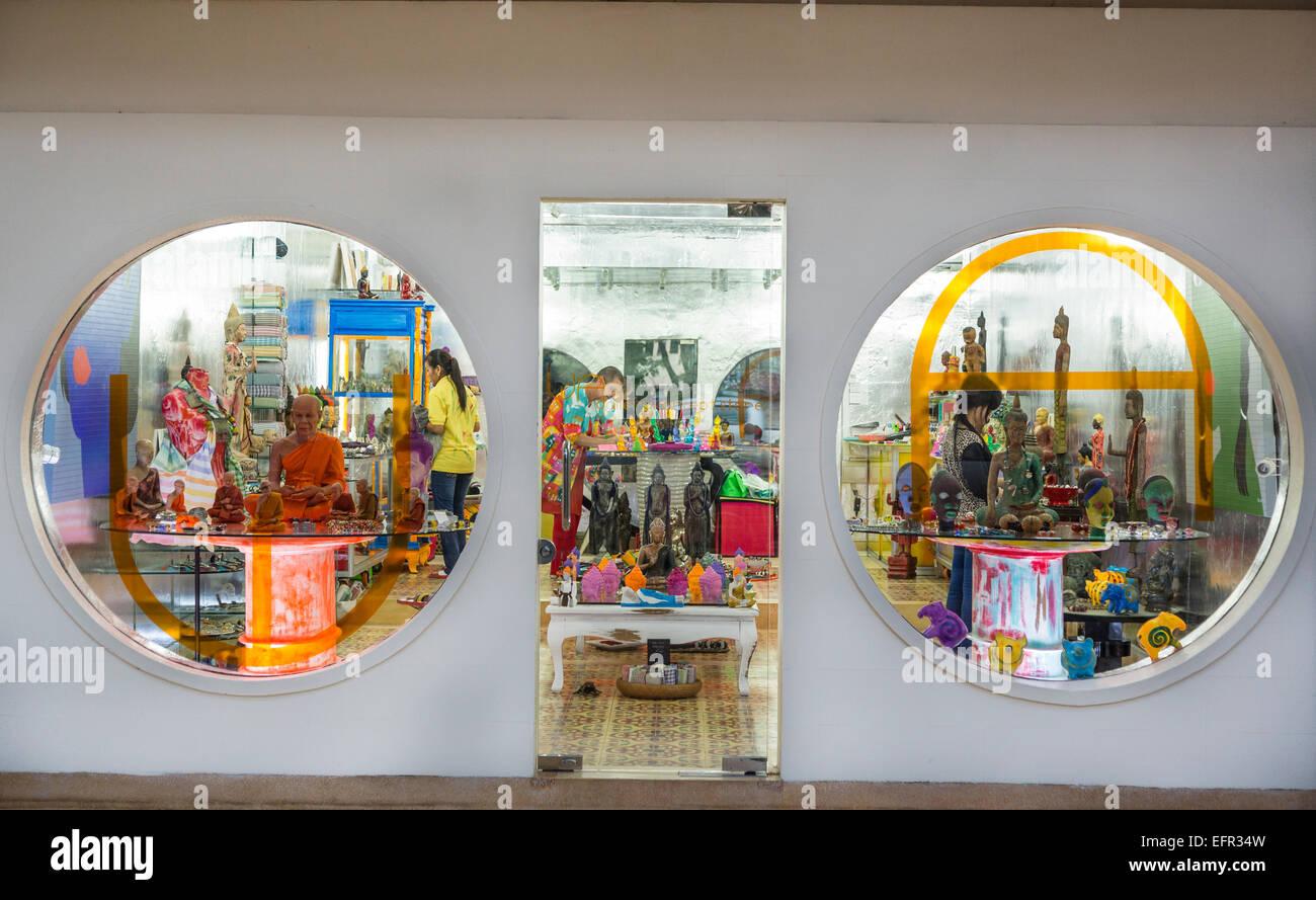 Concepto de Tienda Galería Wa, Siem Reap, Camboya. Imagen De Stock