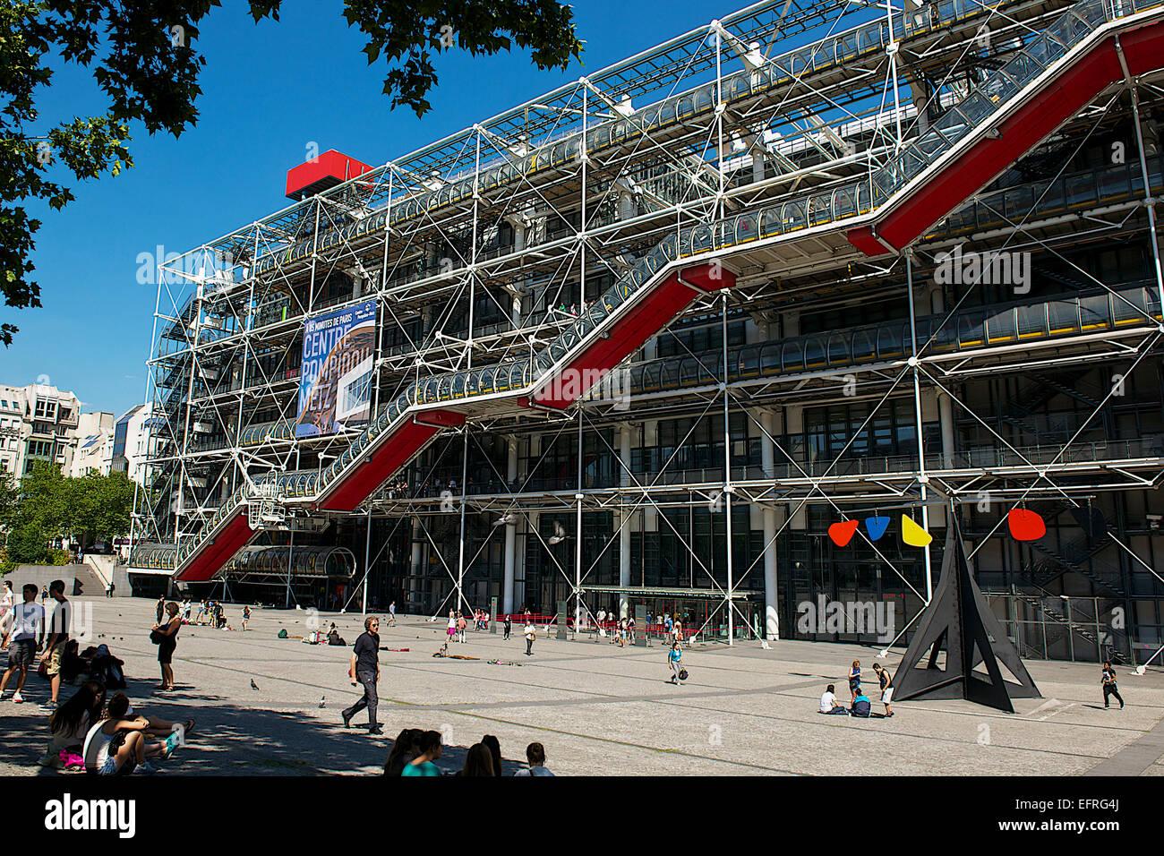 Centro Pompidou, París, Francia Foto de stock
