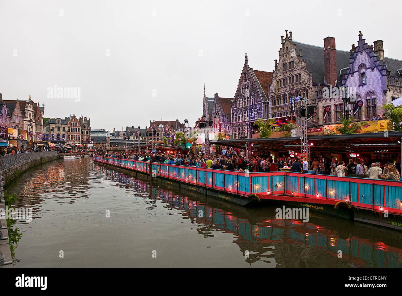 Festival de Música de Gante, Gante, Bélgica Imagen De Stock
