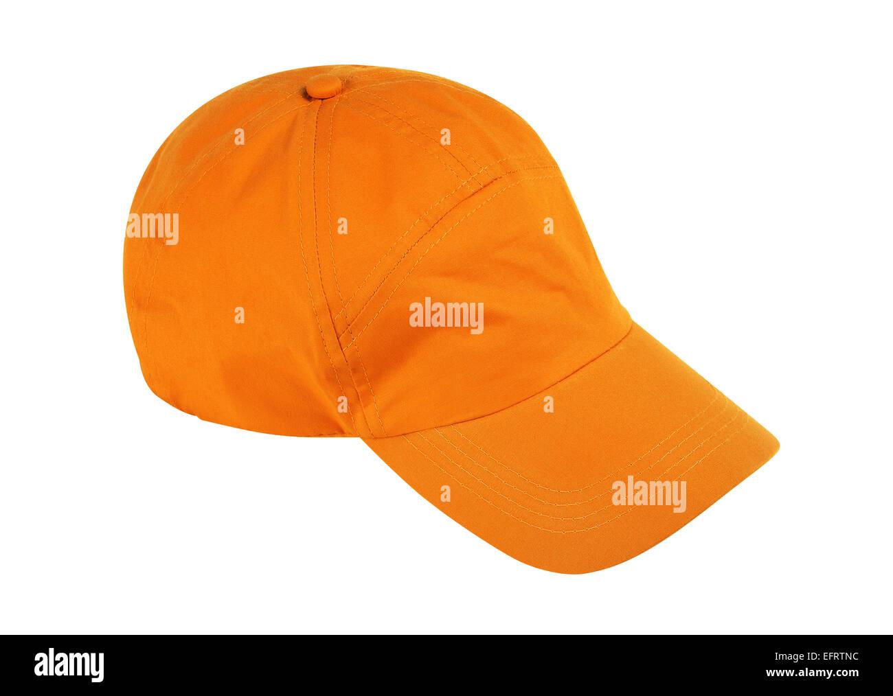 Gorra de béisbol aislado sobre fondo blanco w/ trazado de recorte Foto de stock