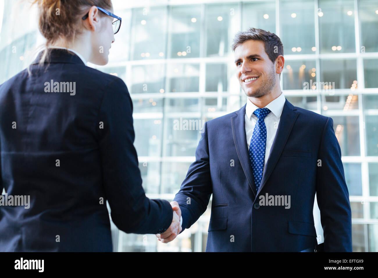 Reunión de gente de negocios Foto de stock