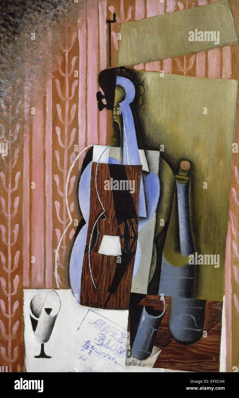 Juan Gris violín Imagen De Stock