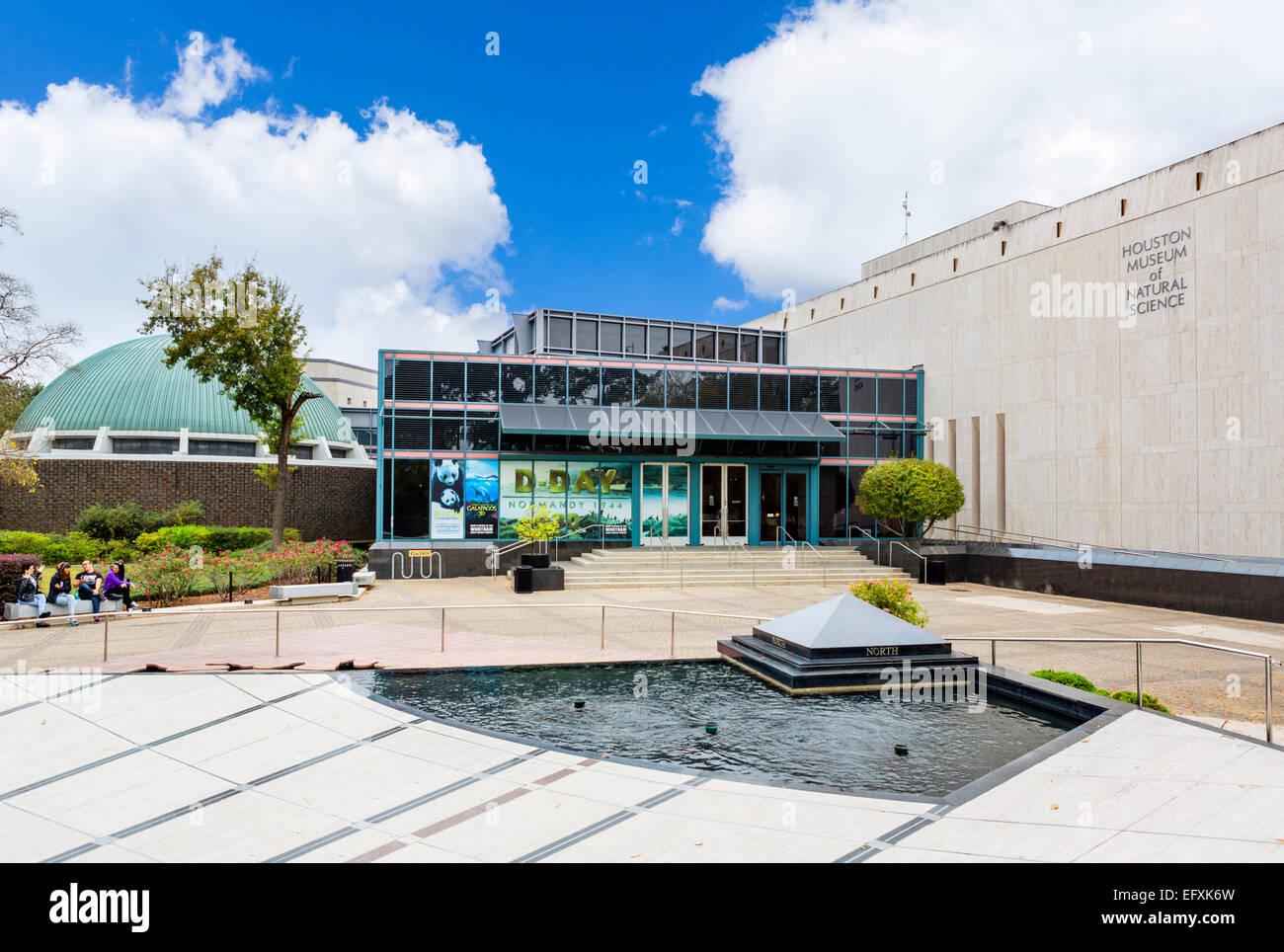 Museo de Ciencias Naturales de Houston, Hermann Park, el distrito de los museos de la ciudad de Houston, Texas, Imagen De Stock