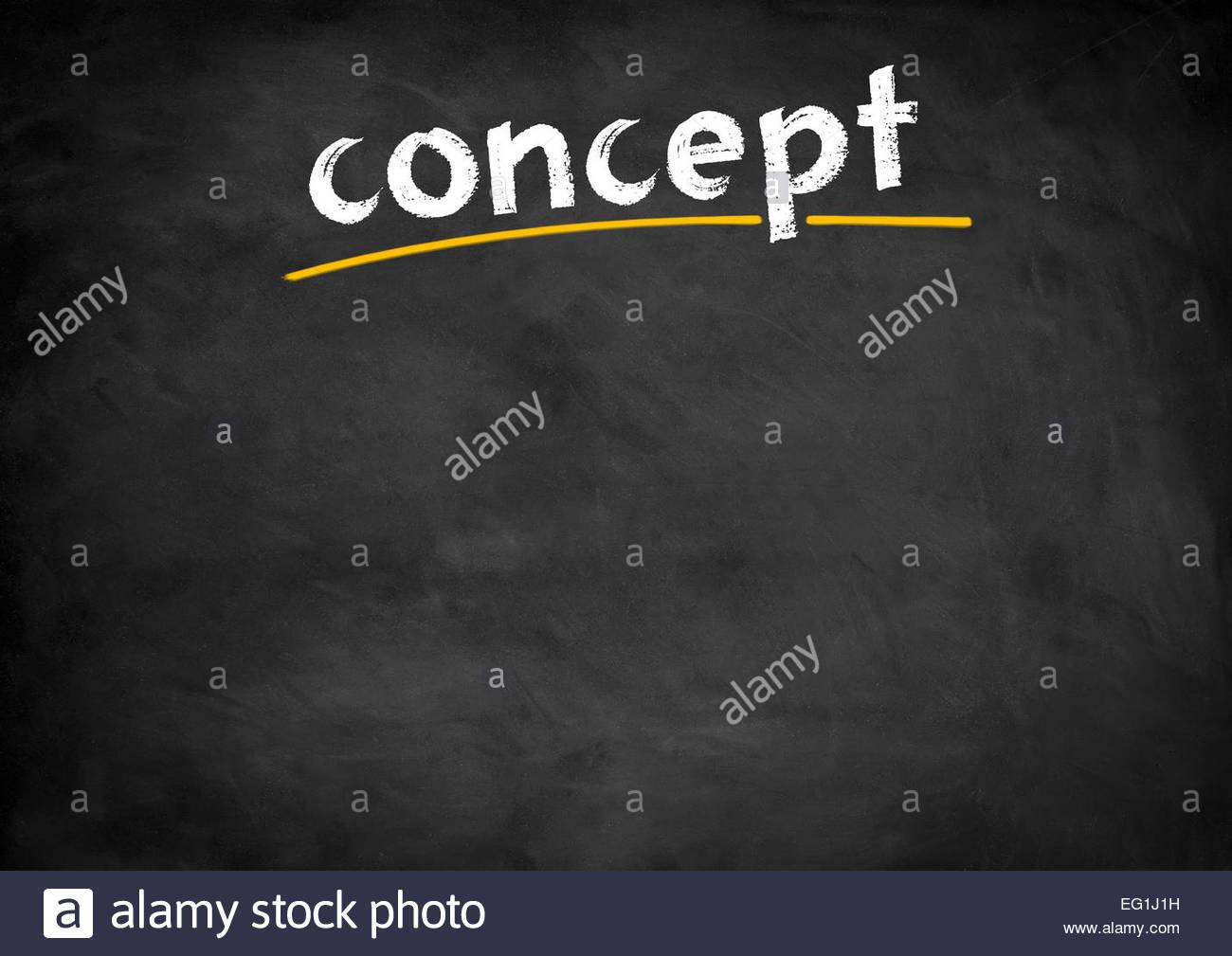 Concepto El concepto de la pizarra Imagen De Stock