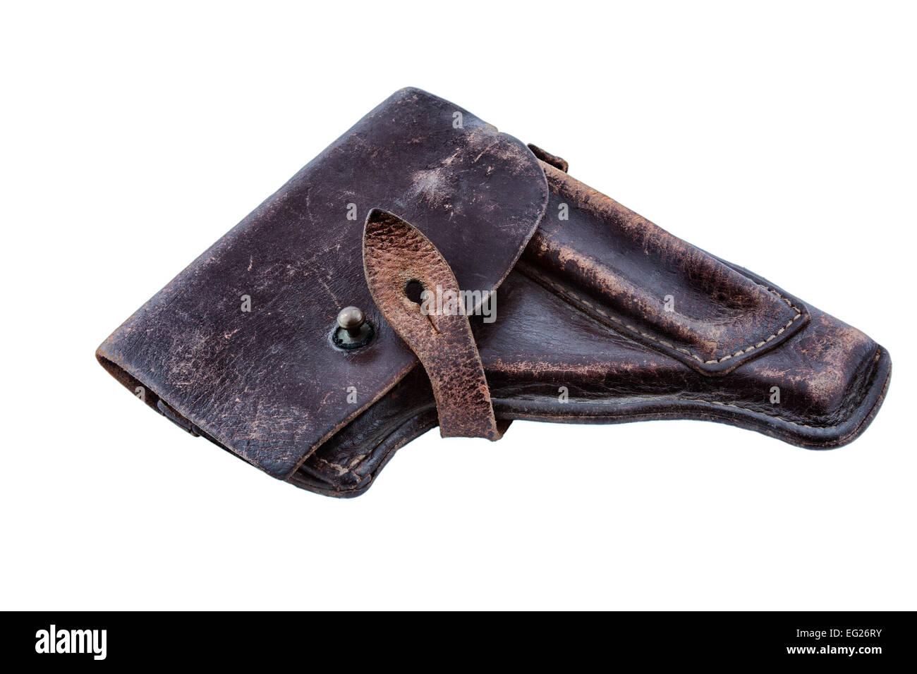 Funda de cuero pistola de la guerra fría, la Unión Soviética Imagen De Stock