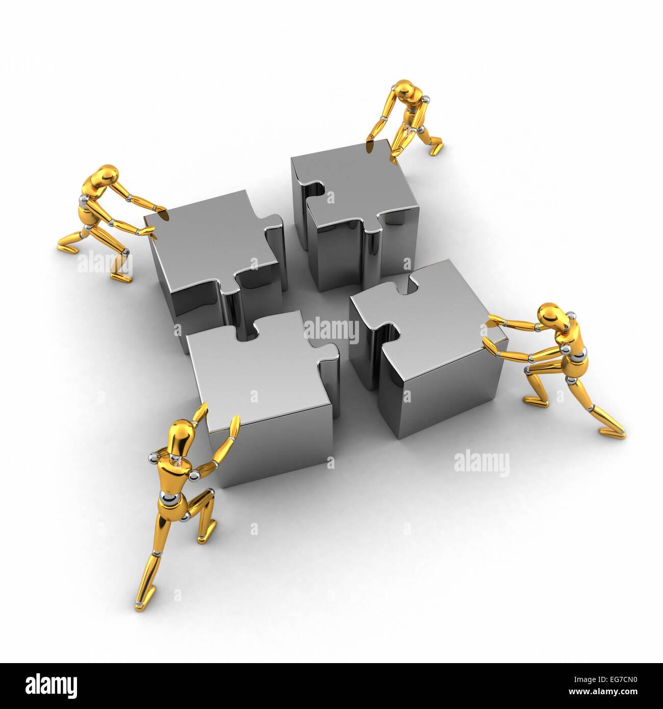 Concepto de trabajo en equipo Imagen De Stock