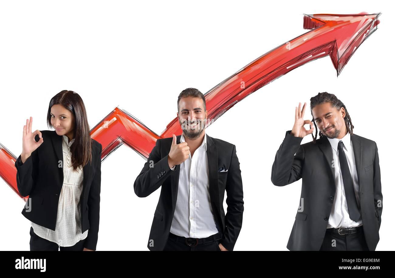 Los beneficios financieros del agente Imagen De Stock