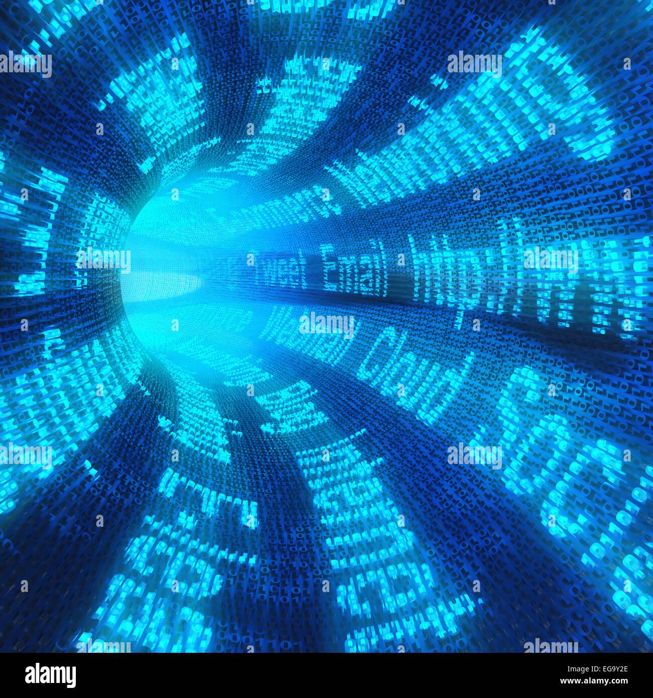 Túnel de Internet Imagen De Stock