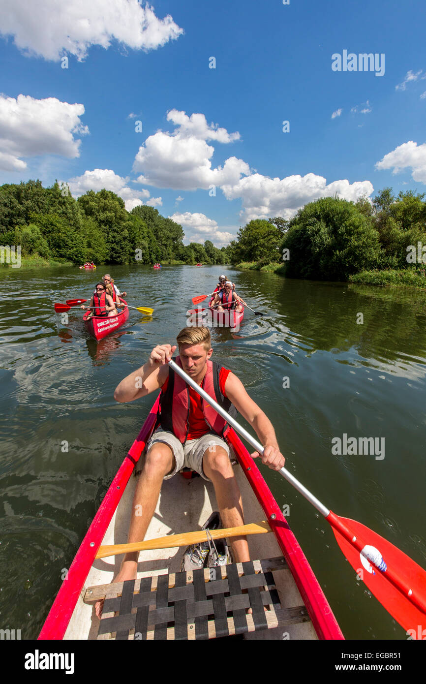 Viaje en canoa por el río Ruhr, atracción turística, Imagen De Stock