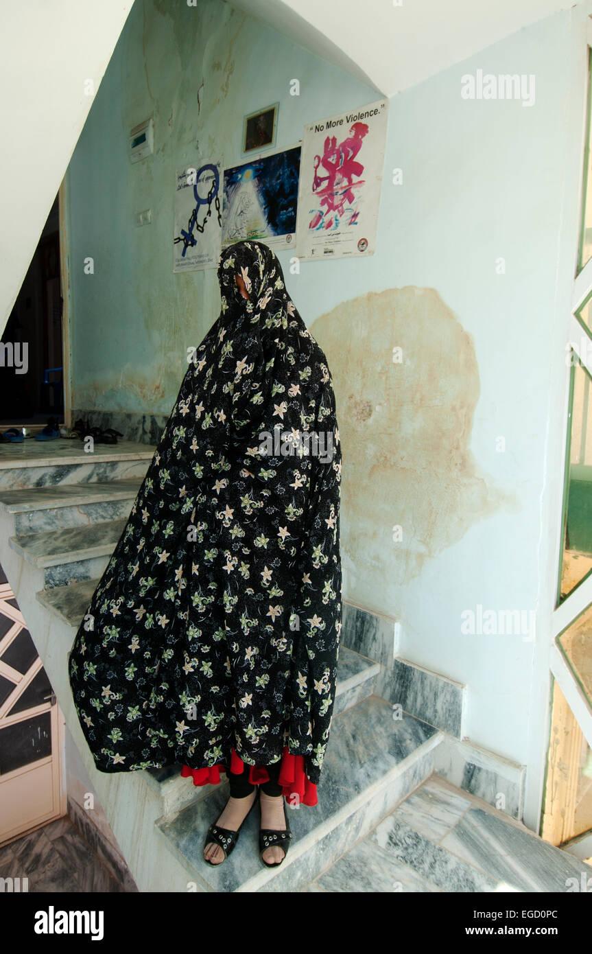 Mujer víctima de abuso doméstico, Herat, Afganistán Imagen De Stock