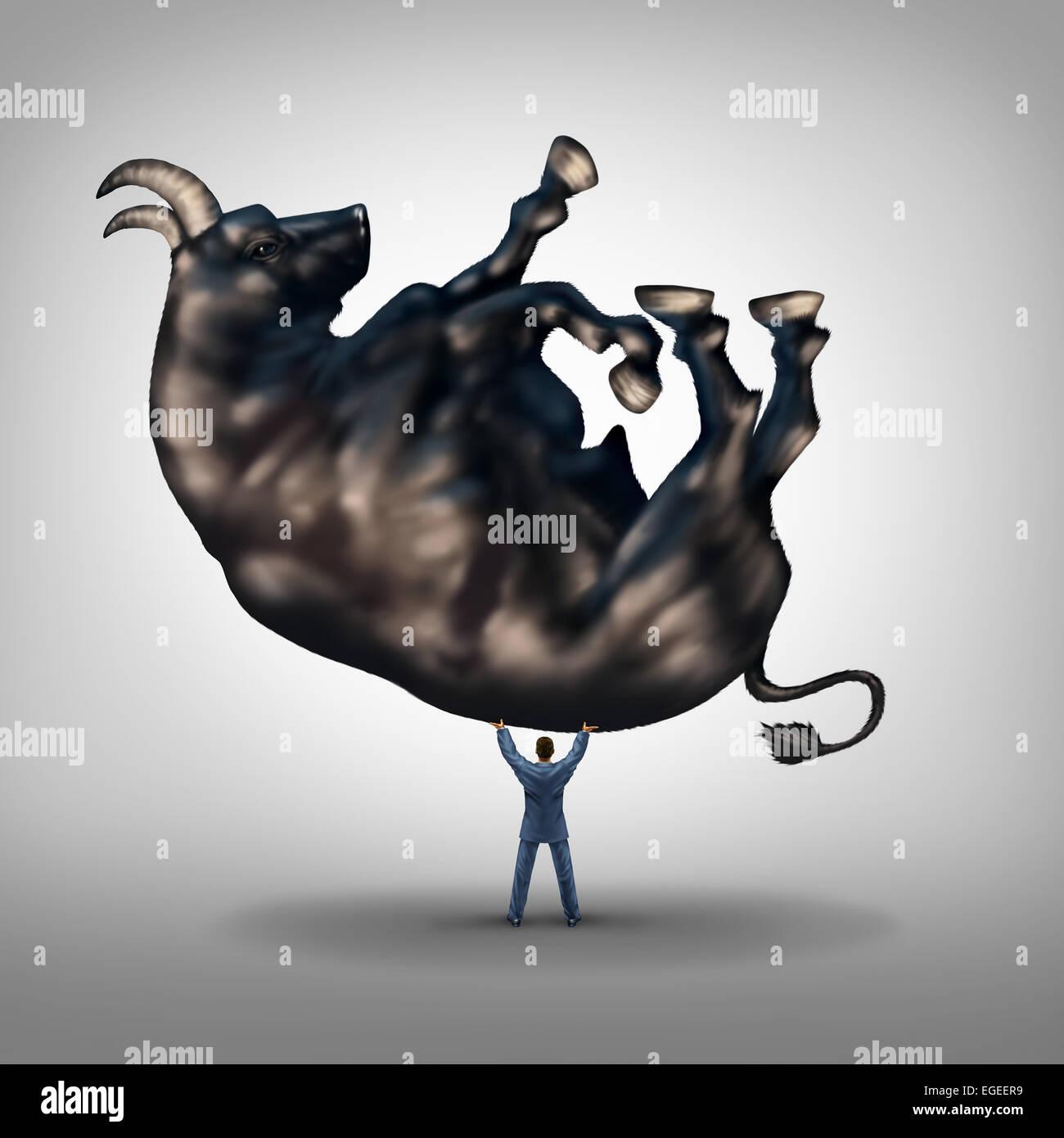Soluciones de Inversión financiera y símbolo de liderazgo y éxito empresarial de concepto como hacerse Imagen De Stock