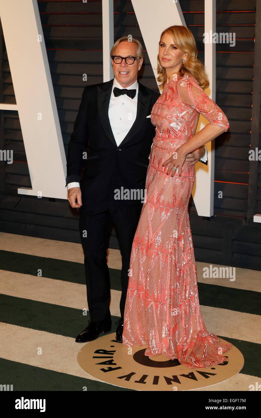 e8a3e71b9 Los diseñadores de moda Tommy Hilfiger y socio Dee Ocleppo asistir a la  Vanity Fair Oscar