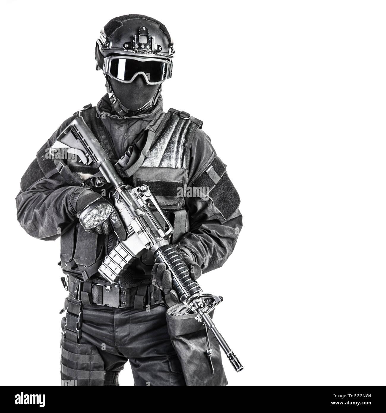 Oficial de policía SWAT Spec Ops Imagen De Stock