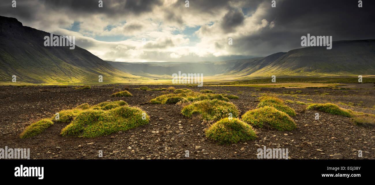 Islandia, Snaefellsnes, atmósfera, montañas, Imagen De Stock