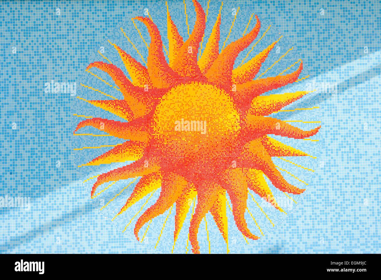 Mosaico de sol Foto de stock