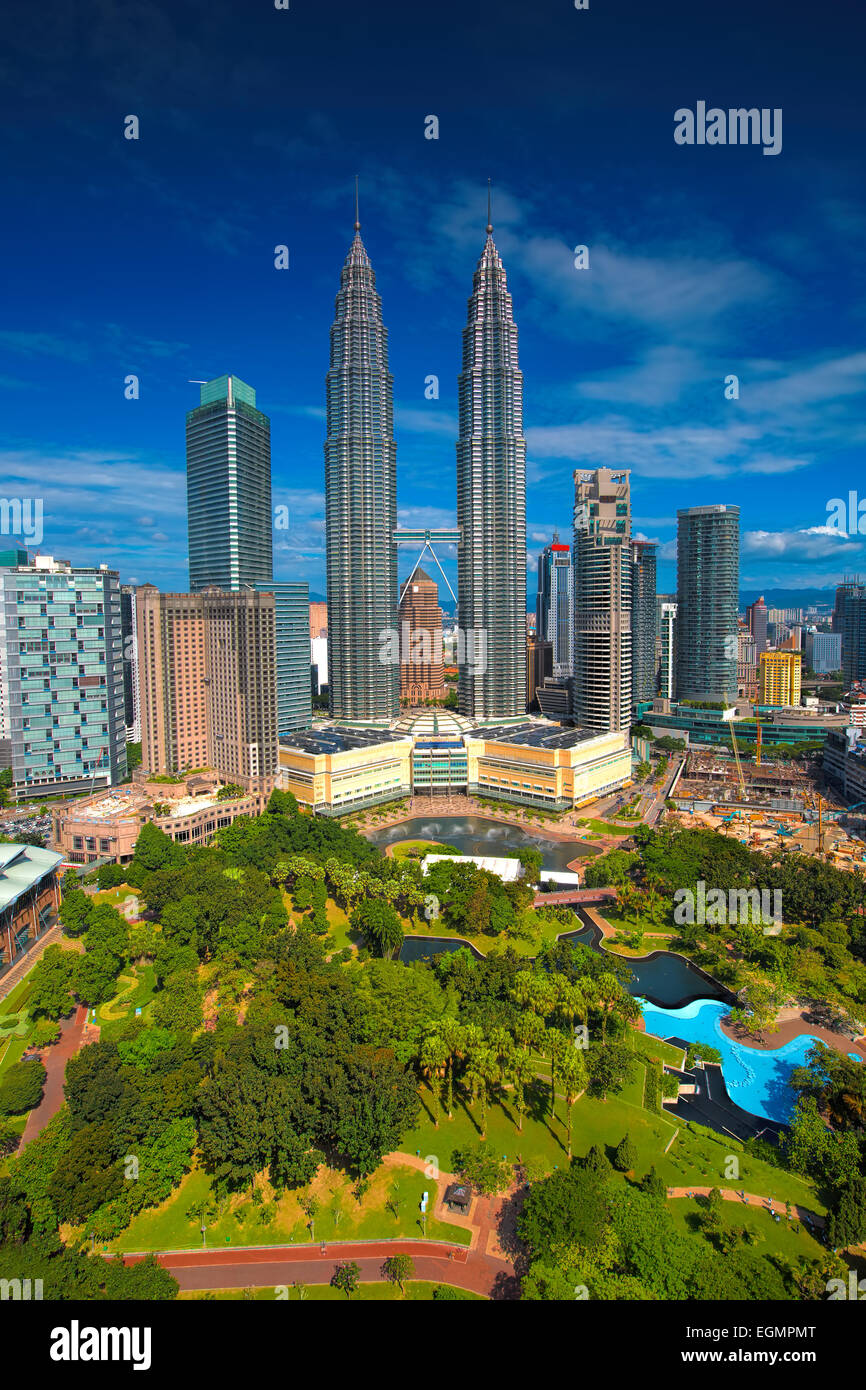 Horizonte de Kuala Lumpur Imagen De Stock