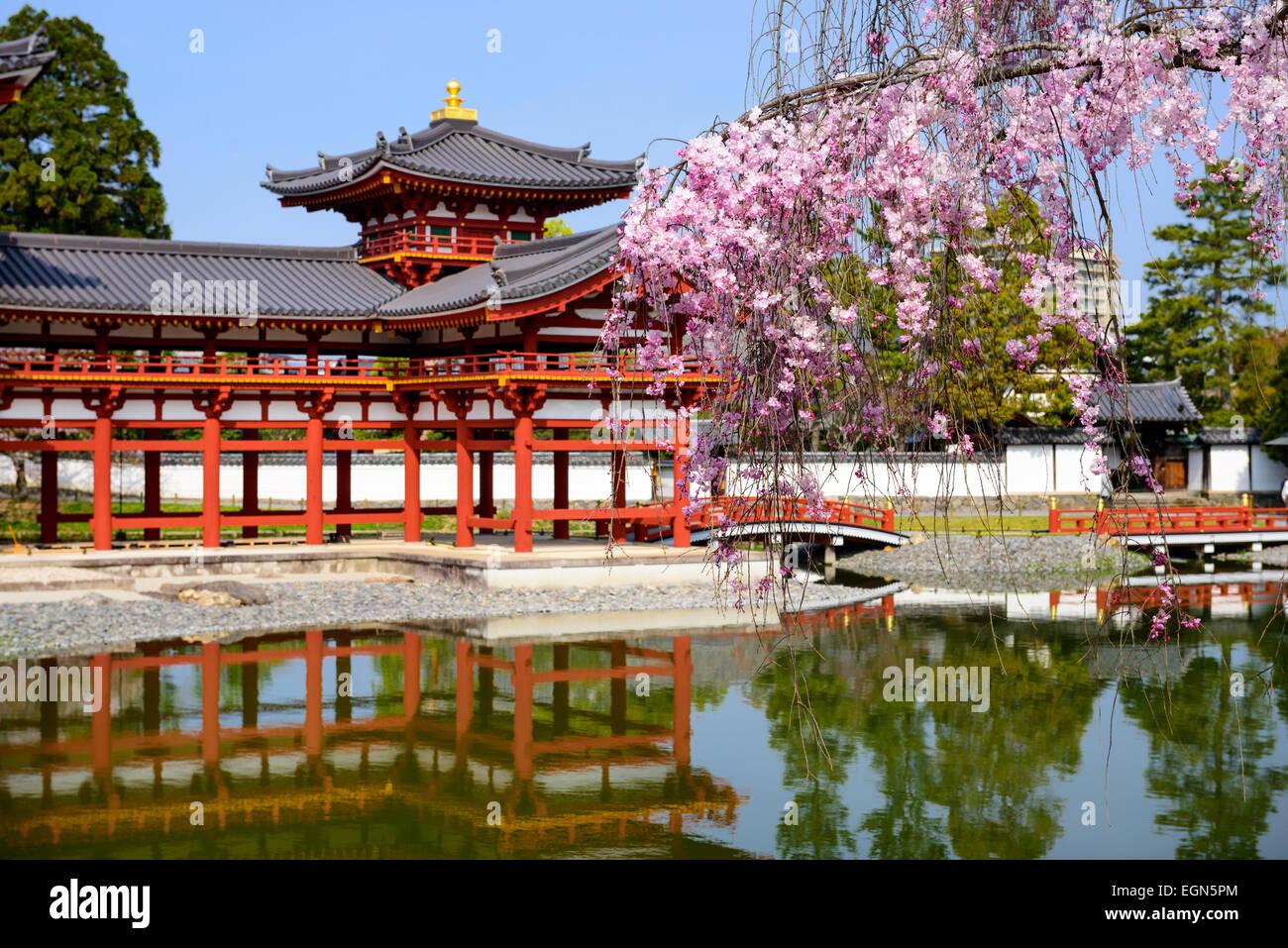 Kyoto, Japón en el Byodo-en el templo. Imagen De Stock