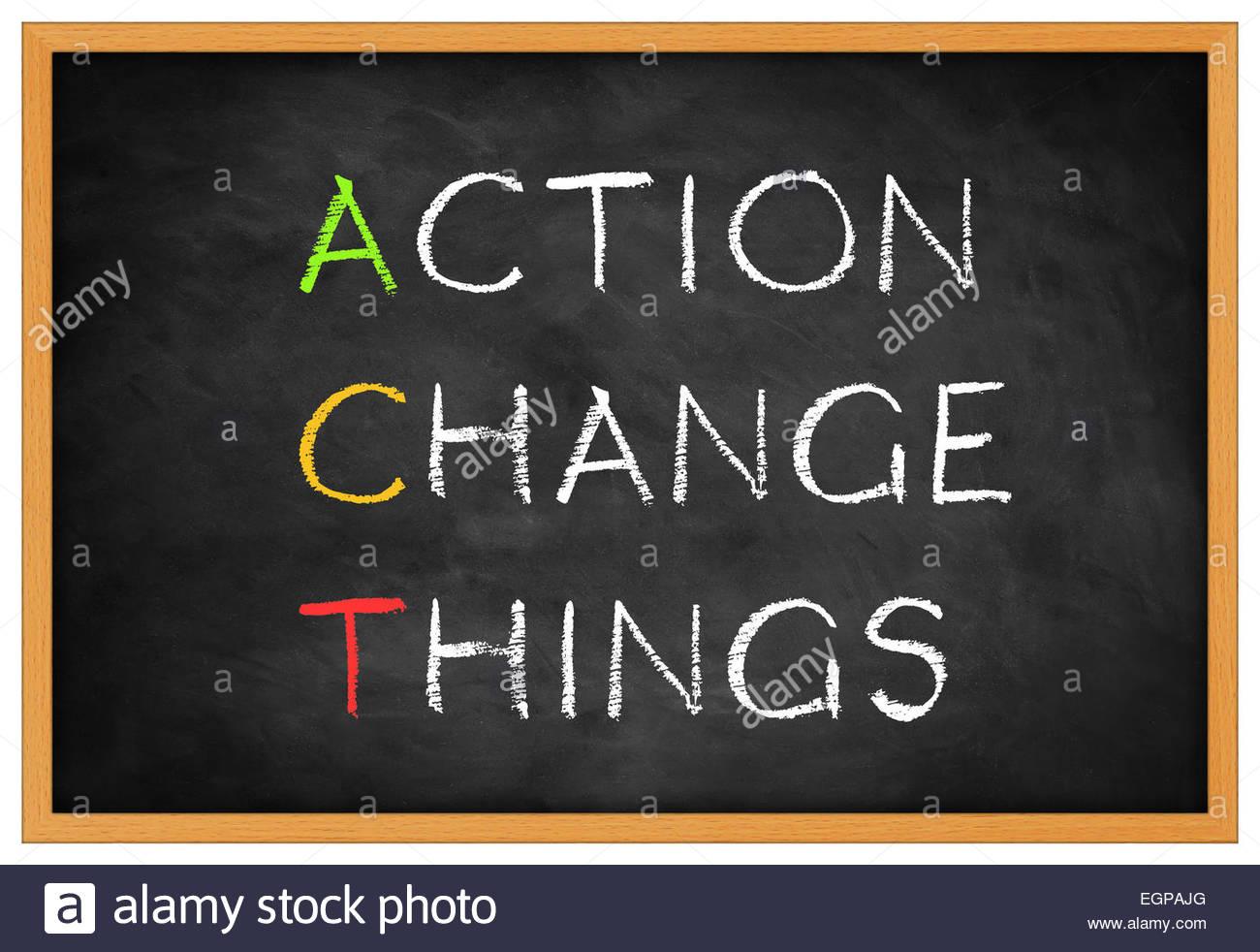 La acción cambiar las cosas- concepto de fondo Imagen De Stock