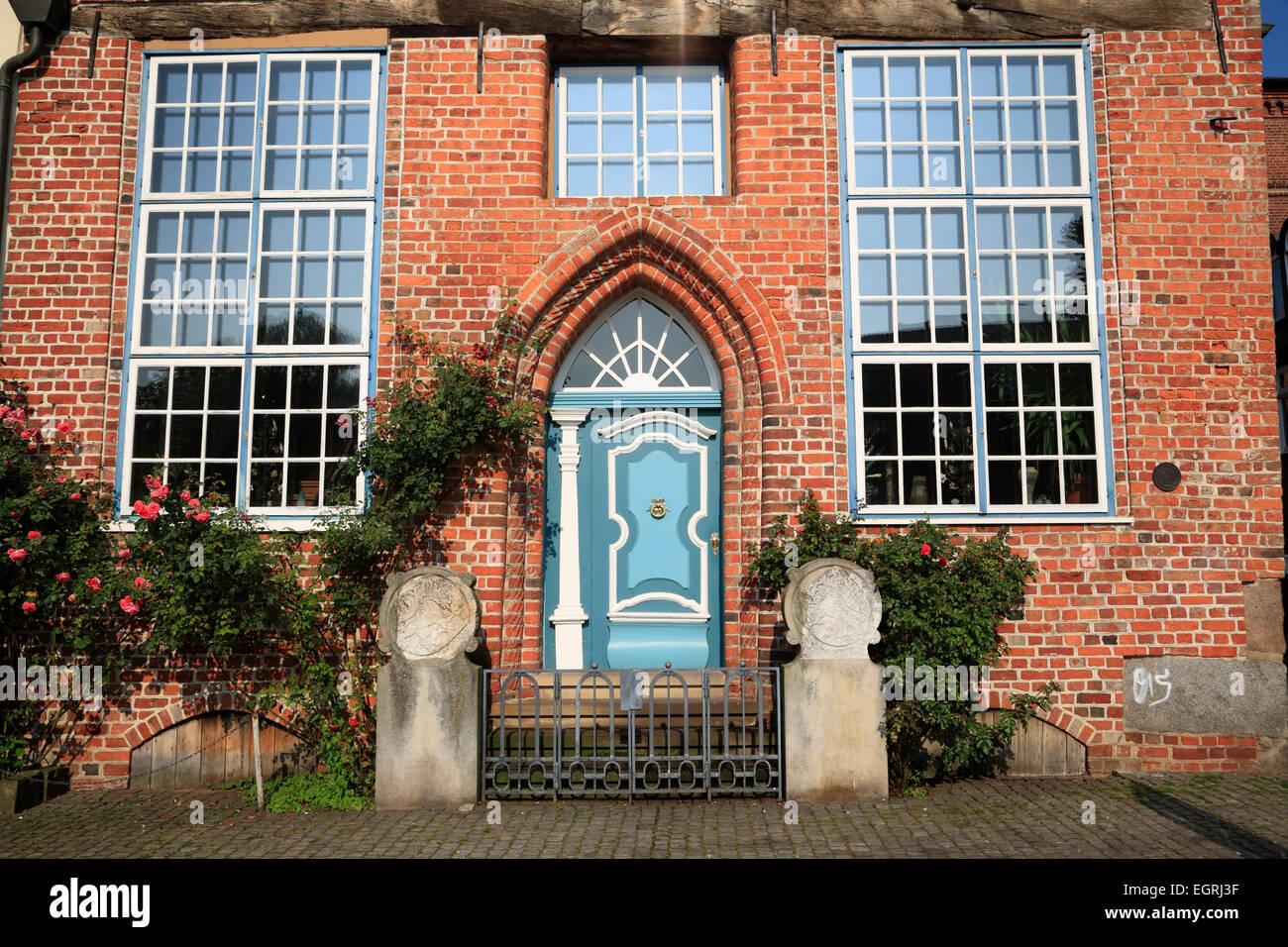 Casa antigua en Stintmarkt, Harbour trimestre, Lueneburg, Lüneburg, Baja Sajonia, Alemania, Europa Imagen De Stock