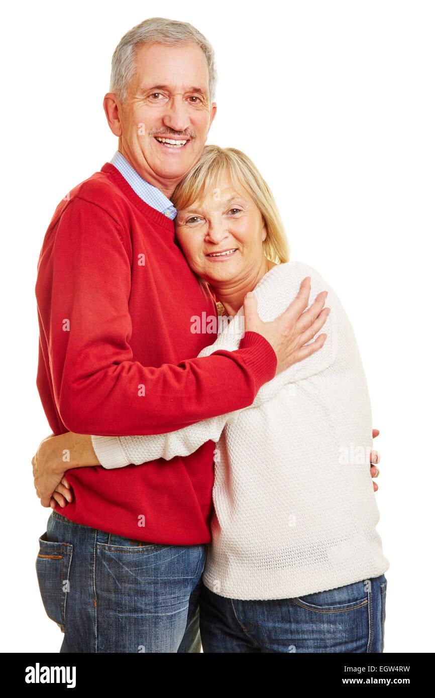 Feliz pareja senior en amor unos a otros Foto de stock