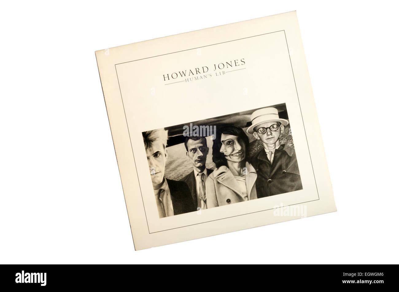 Los seres humanos Lib fue el álbum debut de 1984 por músico de pop británico Howard Jones. Imagen De Stock
