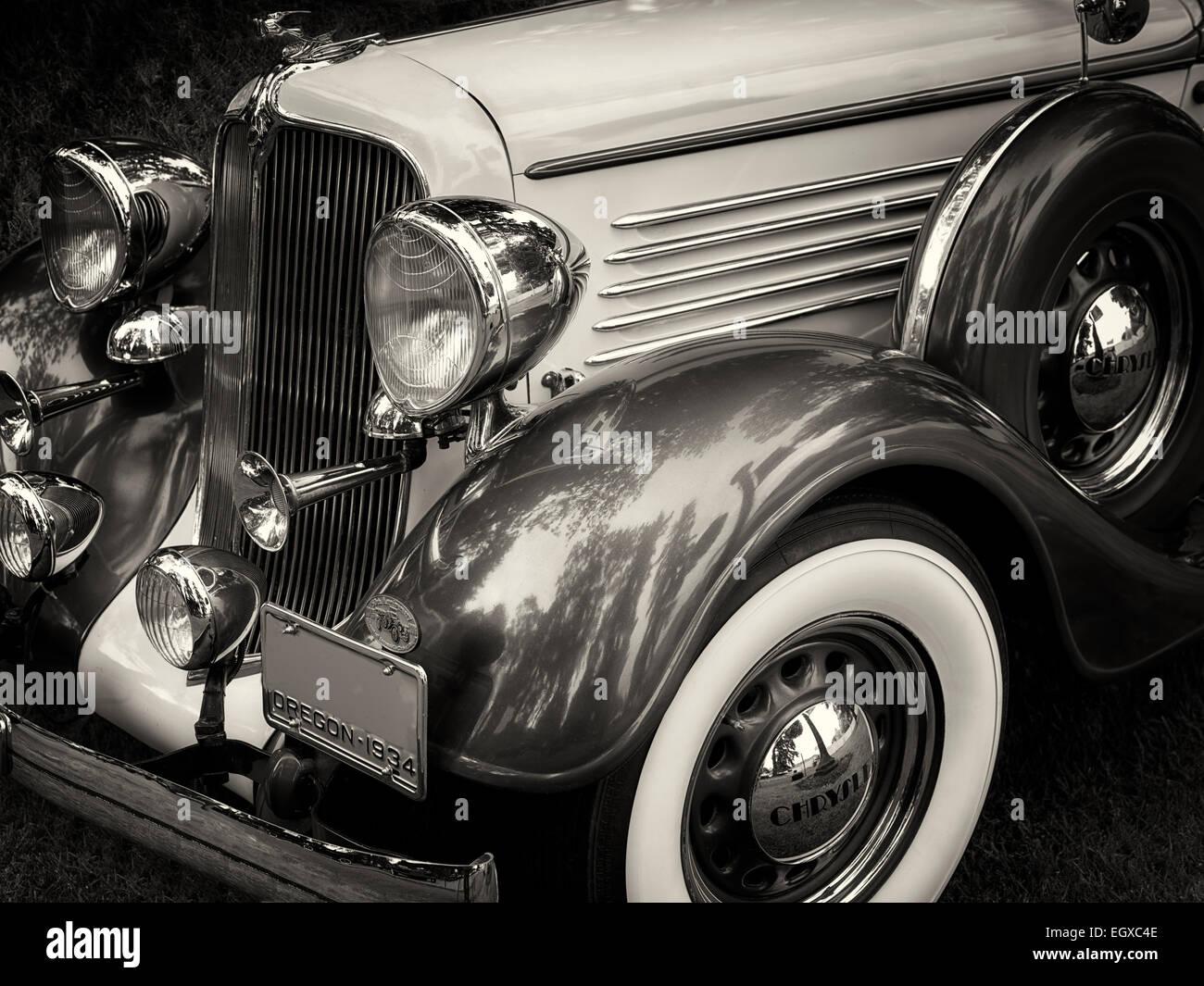 Restaurada en 1934 Chrysler sedán. En el estado de Oregon. Imagen De Stock