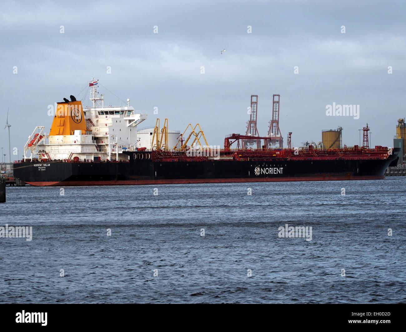 9396373 Norient Solar, la OMI en el Amerika haven, puerto de Amsterdam, foto Foto de stock