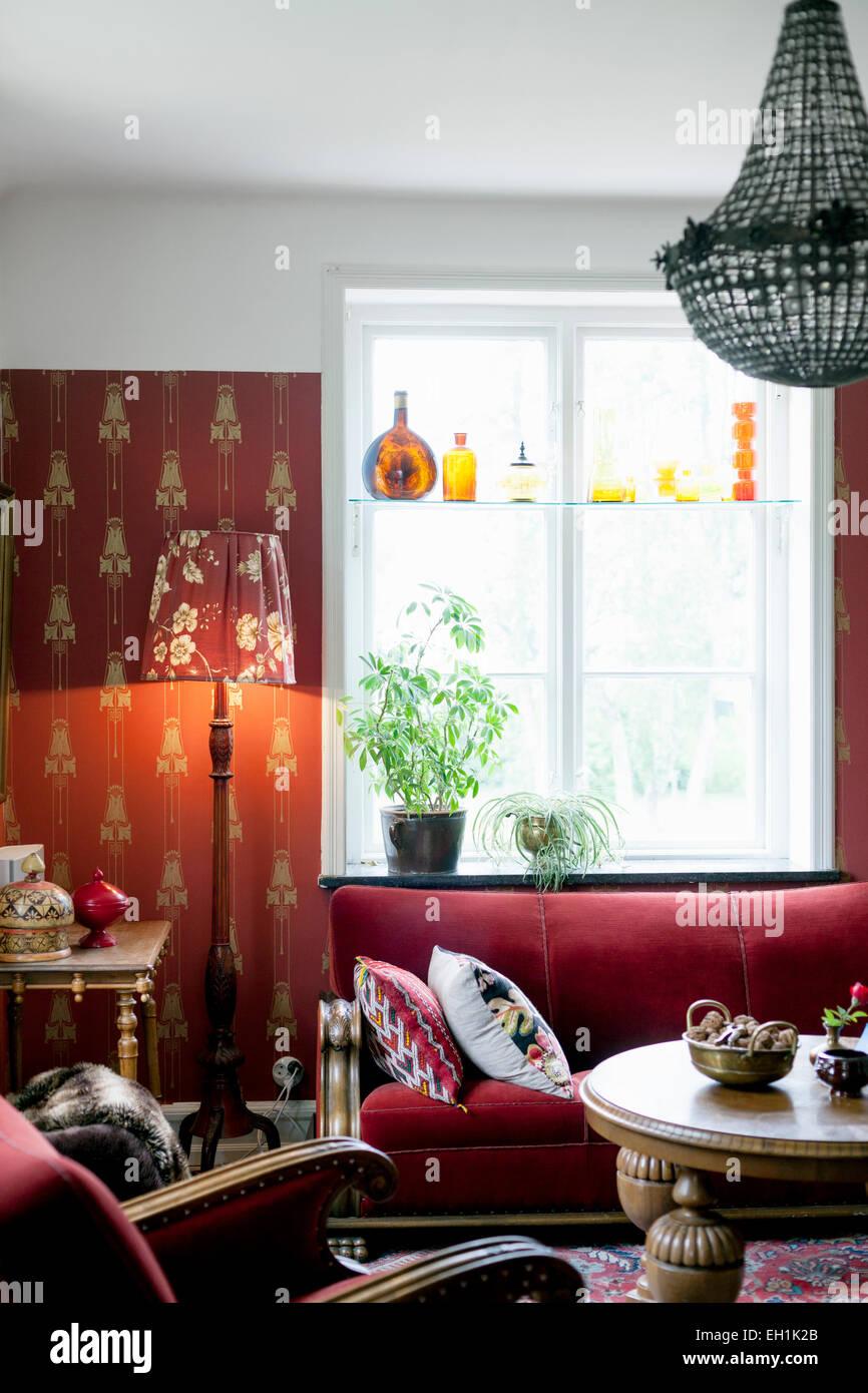 Salón de casa simple Imagen De Stock