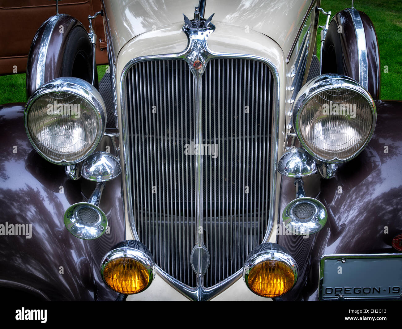 Restaurada en 1934 Chrysler sedán. Oregon Imagen De Stock