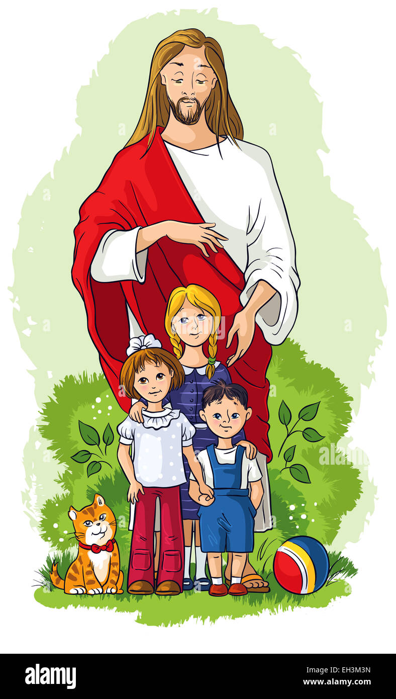Cartoon Image Jesus Imagenes De Stock Cartoon Image Jesus Fotos De